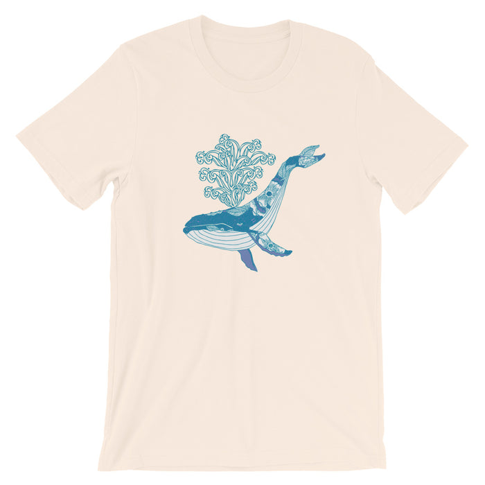 """Humpback"" Short-Sleeve Unisex T-Shirt - College Collections Art"