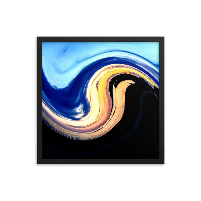"""ying yang"" Framed poster - College Collections Art"