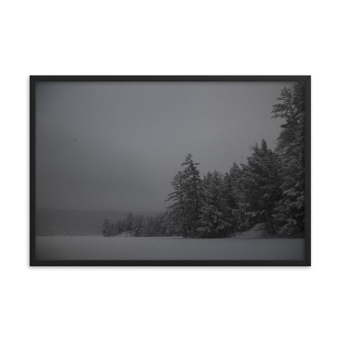 """Snowy Lake"" Framed poster - College Collections Art"