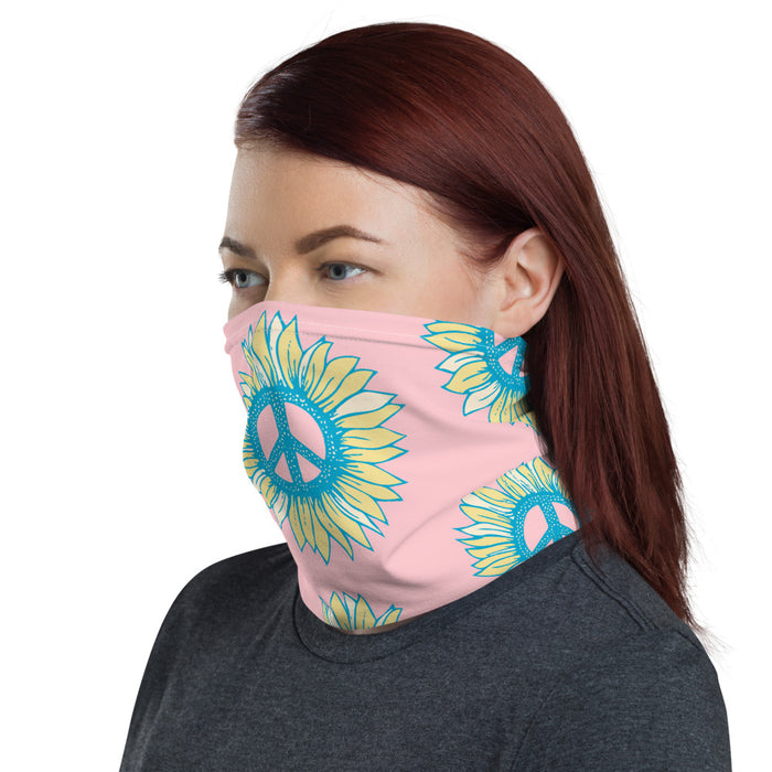 """Peace Flower"" Neck Gaiter - College Collections Art"