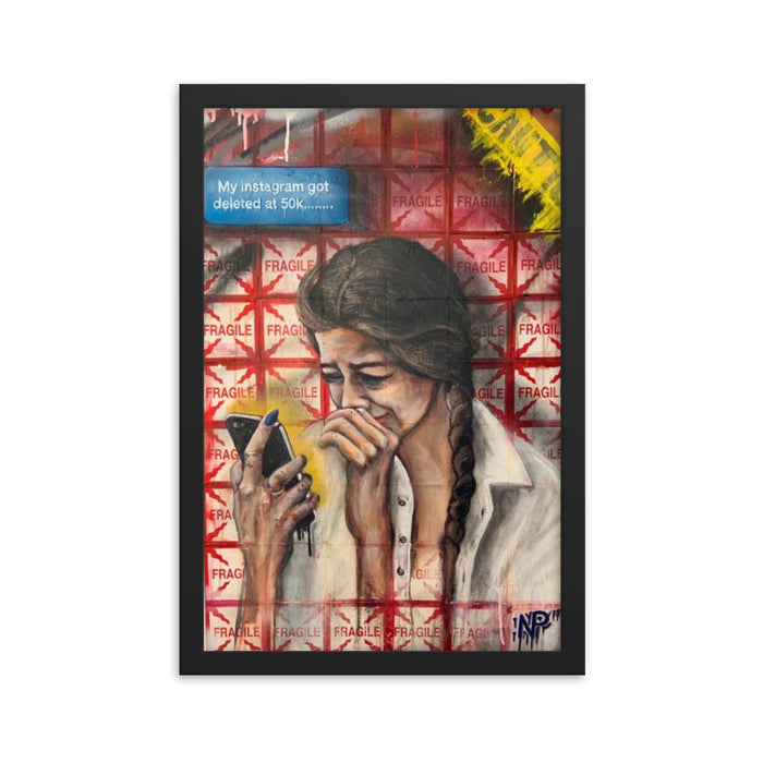 """Picks - 010"" Framed poster - College Collections Art"