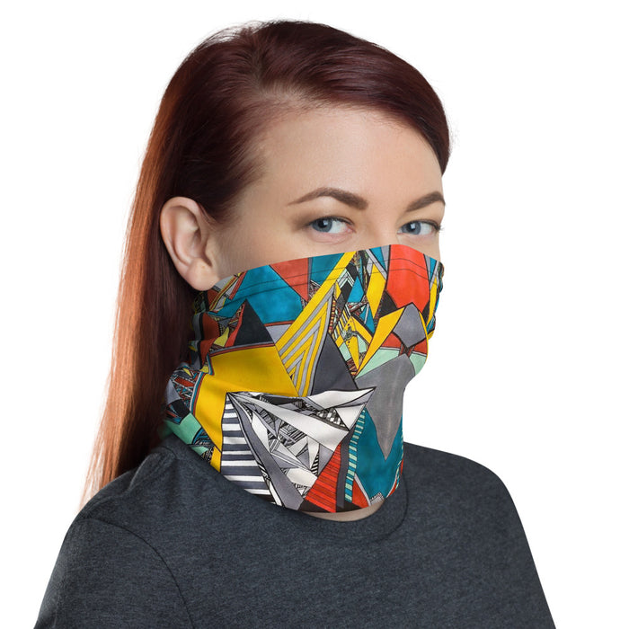 """Geo Therapy Two"" Neck Gaiter - College Collections Art"