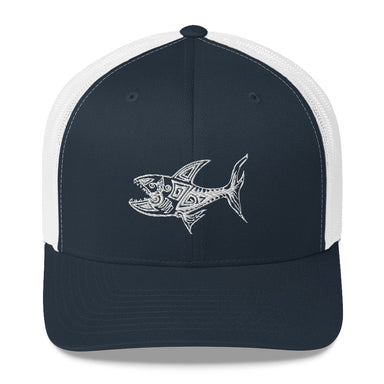 """O.G. Shark"" Mesh Snapback - College Collections Art"