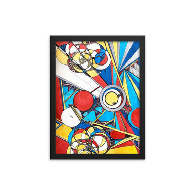 """Geo Therapy Three"" Framed poster - College Collections Art"