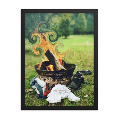 """Warmth"" Framed poster - College Collections Art"