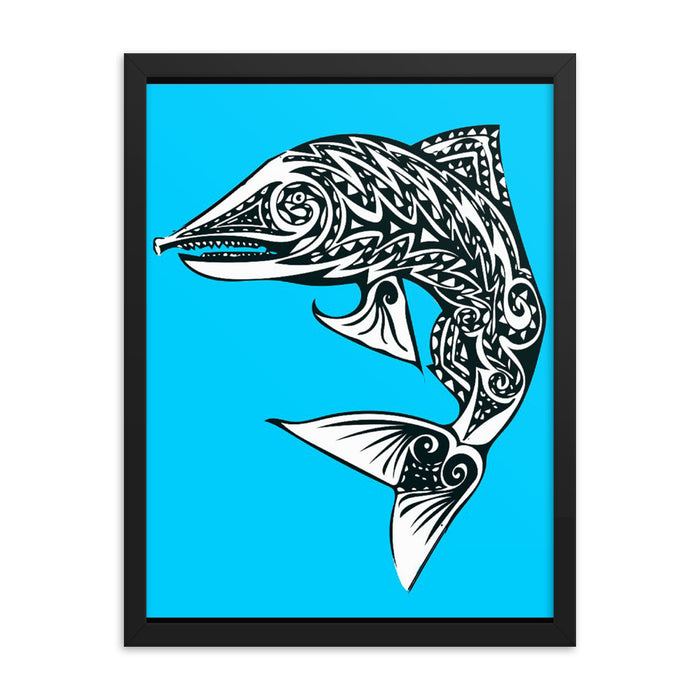 """Salmon"" Framed poster - College Collections Art"