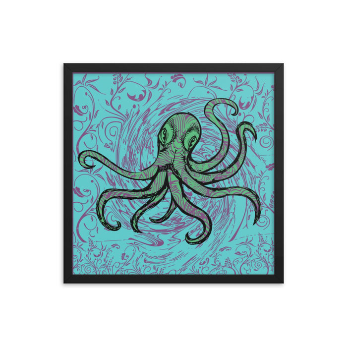 """Octopus"" Framed poster - College Collections Art"