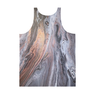 """Silk River  (2/3)"" Unisex Tank Top - College Collections Art"