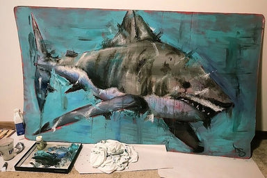 """Great White"" Original Painting"