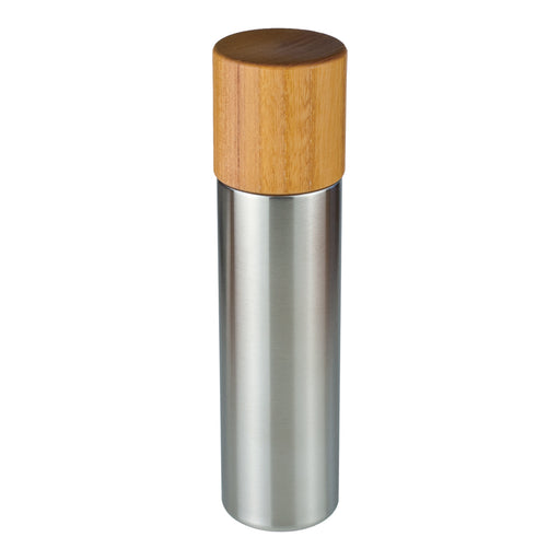 Thermos bottle with wooden cup / M