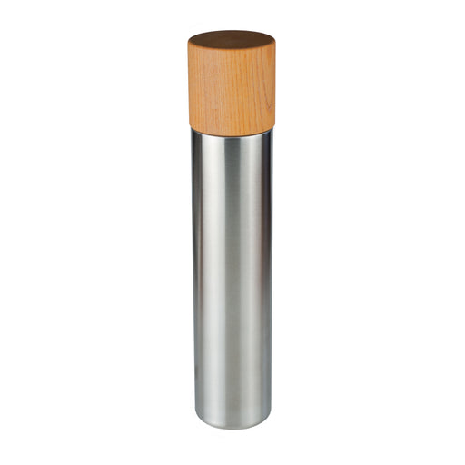Thermos bottle with wooden cup / L