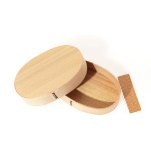 Oval Wood Lunch Box / L (Deep Lid)