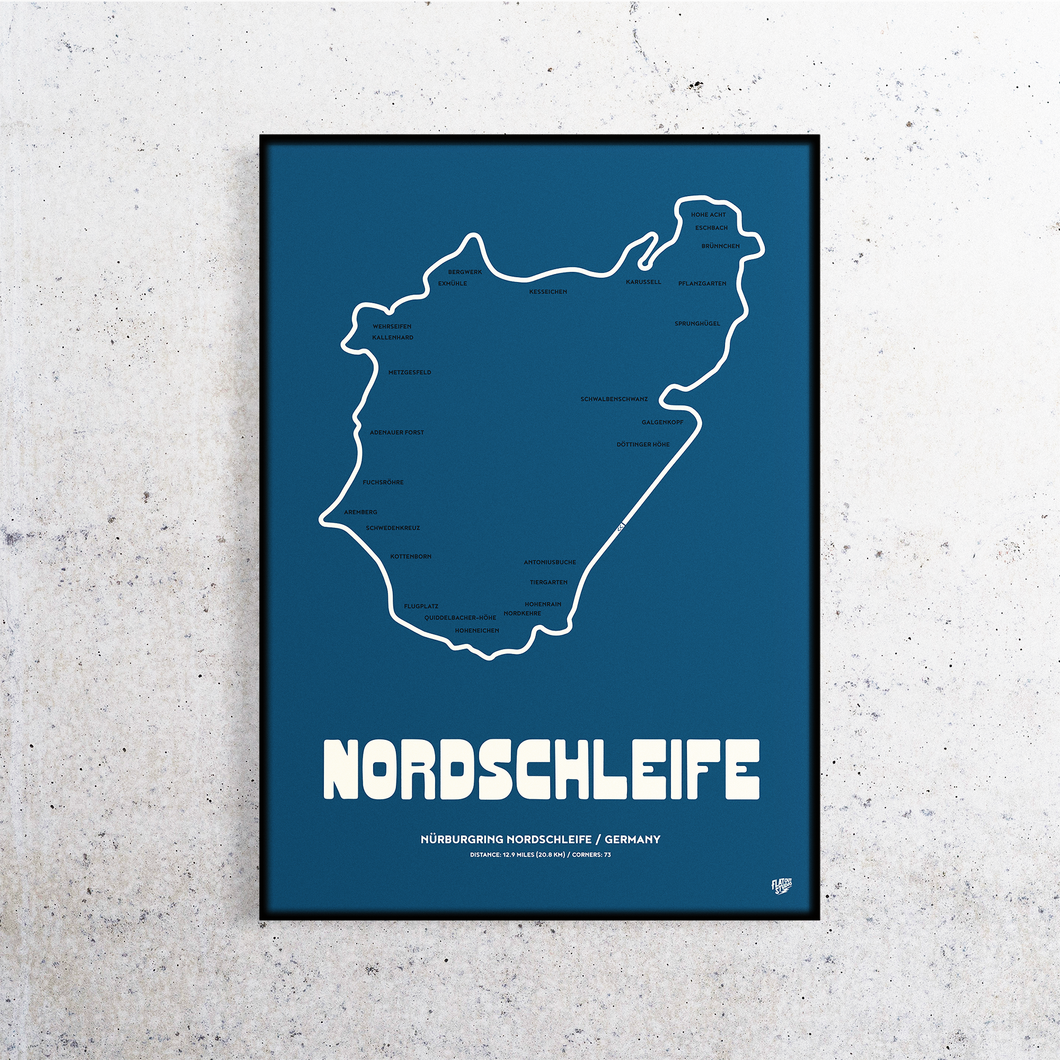 Nordschleife Track Print