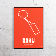 Load image into Gallery viewer, Baku Formula 1 Track Print