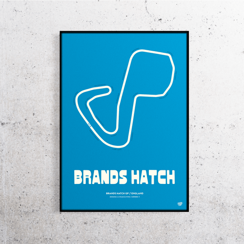 Brands Hatch Track Print