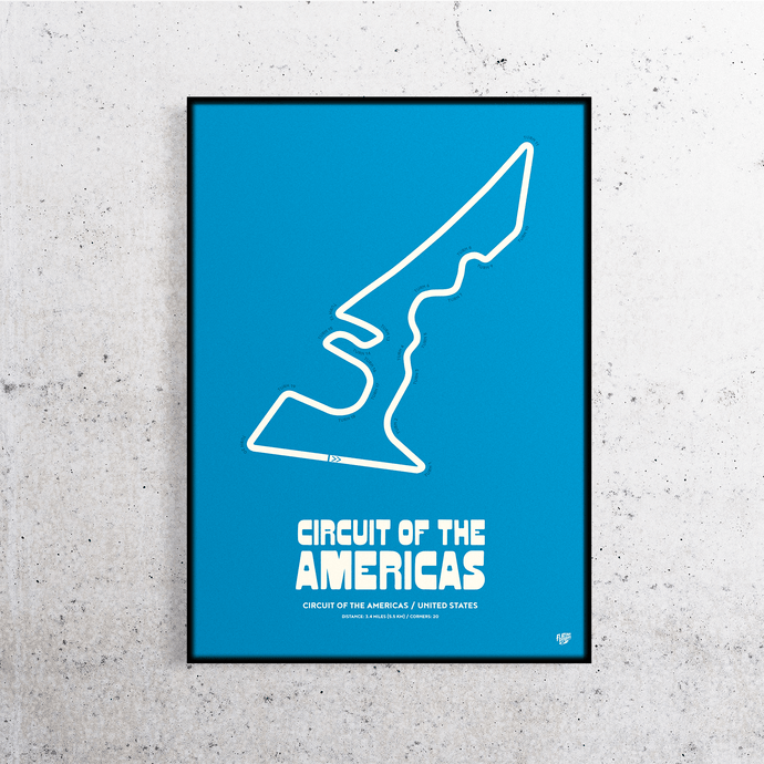 Circuit of the Americas MotoGP Track Print