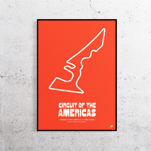 Circuit of the Americas Formula 1 Track Print