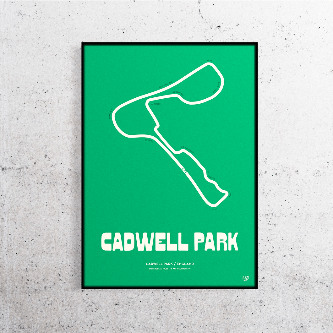 Cadwell Park Track Print