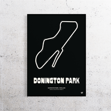 Load image into Gallery viewer, Donington Park Track Print