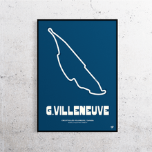 Load image into Gallery viewer, Gilles Villeneuve Formula 1 Track Print