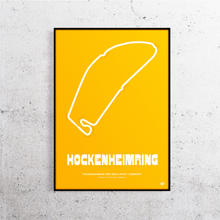 Load image into Gallery viewer, Hockenheimring Old Layout Track Print