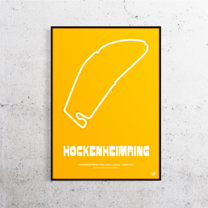 Hockenheimring Old Layout Track Print