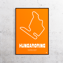 Load image into Gallery viewer, Hungaroring Formula 1 Track Print
