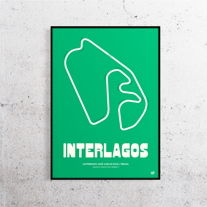 Interlagos Formula One Track Print