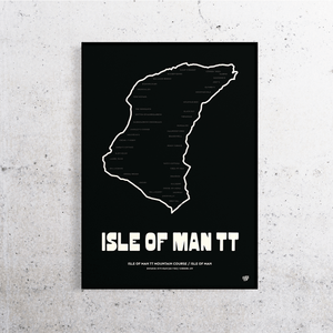 Isle of Man TT Track Print