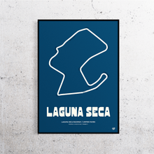 Load image into Gallery viewer, Laguna Seca Track Print