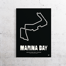 Load image into Gallery viewer, Marina Bay Formula 1 Track Print