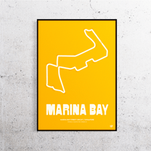 Load image into Gallery viewer, Marina Bay Formula One Track Print