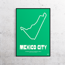 Load image into Gallery viewer, Mexico City Formula 1 Track Print