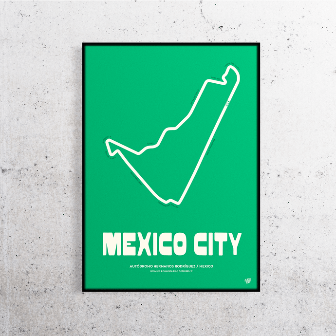 Mexico City Formula One Track Print