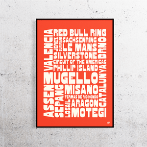 MotoGP 2019 Tracks Names Print