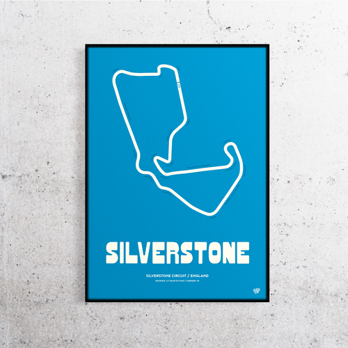 Silverstone Formula One Track Print
