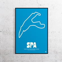 Load image into Gallery viewer, Spa Formula 1 Track Print