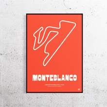 Load image into Gallery viewer, Monteblanco Track Print