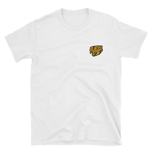 Flat Out Logo White T-Shirt
