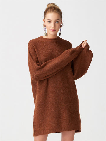 Brown Oversized Dress
