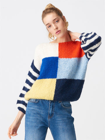 Striped Multi Color Sweater - Blue