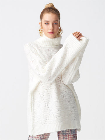 Turtleneck White Sweater