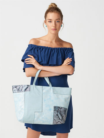 Patchwork Blue Big Bag