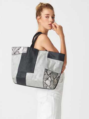 Patchwork Black&Grey Big Bag