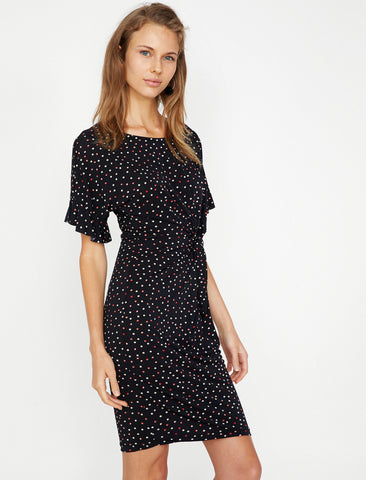 Black Dotted Dress