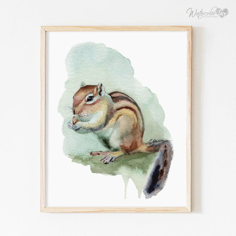 Baby Chipmunk Digital Print