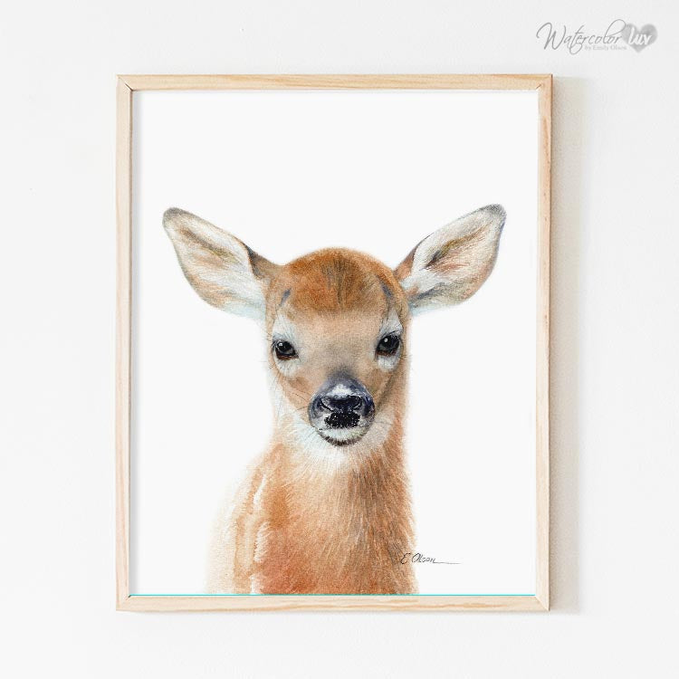 Baby Deer Fawn Digital Print