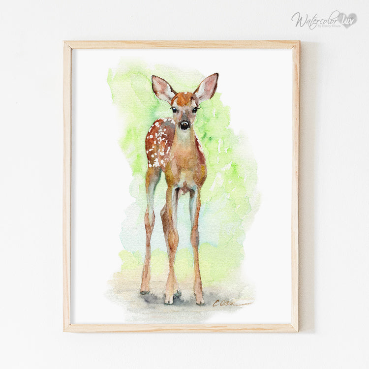 Baby Deer Fawn No.2 Digital Print