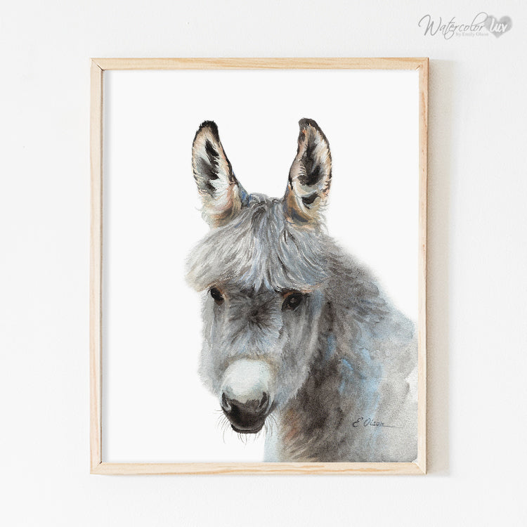 Farm Donkey Digital Print