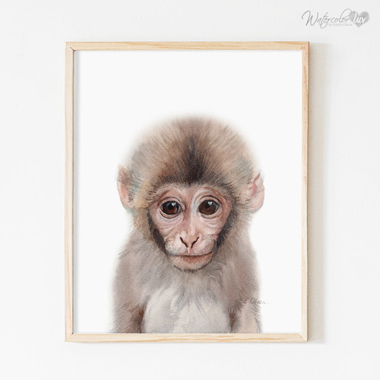 Baby Monkey Digital Print